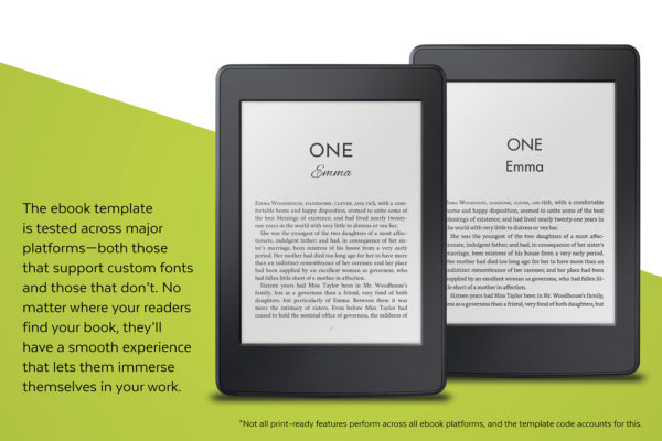 Meet Cute, Self-publishing Book Design Template for Contemporary Romance - the ebook template is tested across major platforms.