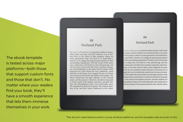 Dashwood, Self-publishing Book Design Template for Historical Romance - the ebook template is tested across major platforms.